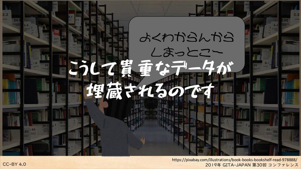 CC-BY 4.0 2019年 GITA-JAPAN 第30回 コンファレンス よくわからんか...