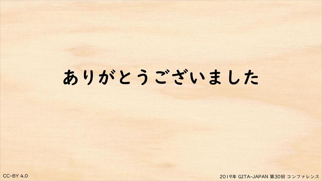 CC-BY 4.0 2019年 GITA-JAPAN 第30回 コンファレンス ありがとうござ...