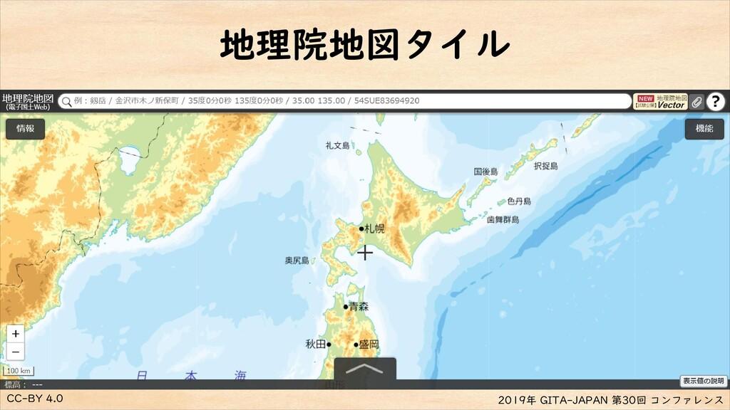 CC-BY 4.0 2019年 GITA-JAPAN 第30回 コンファレンス 地理院地図タイル