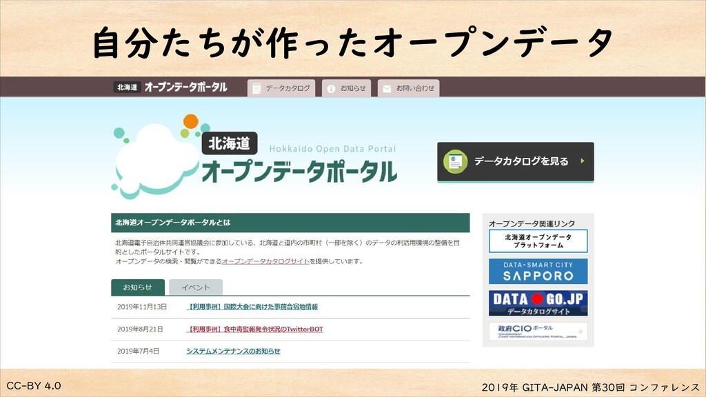 CC-BY 4.0 2019年 GITA-JAPAN 第30回 コンファレンス 自分たちが作っ...