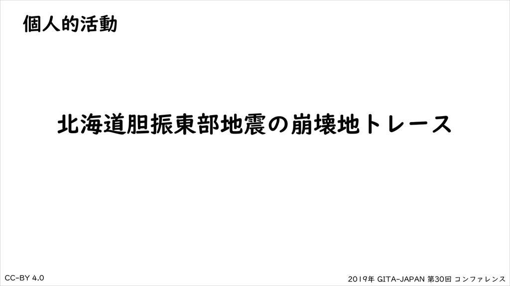 2019年 GITA-JAPAN 第30回 コンファレンス CC-BY 4.0 個人的活動 北...