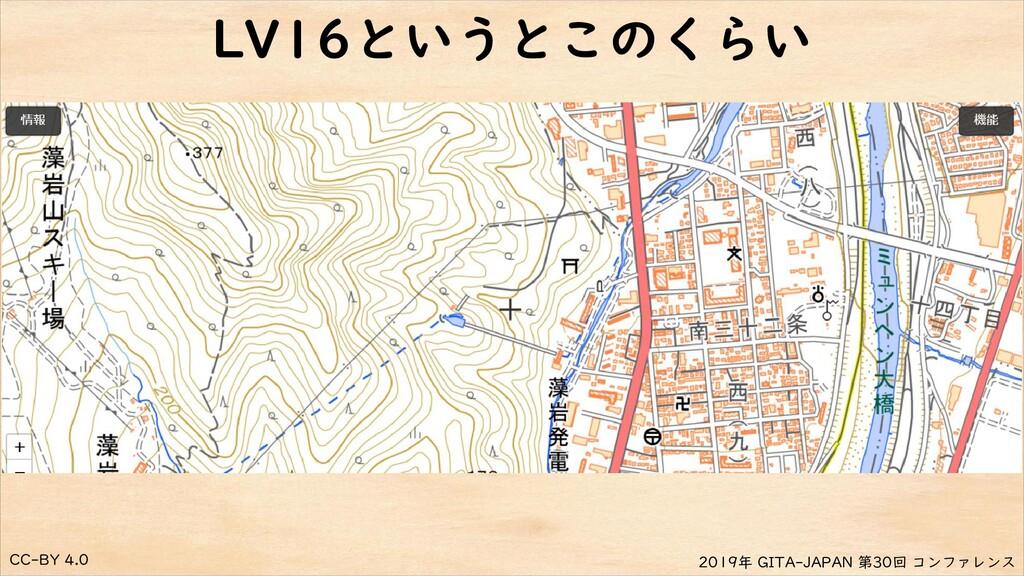 CC-BY 4.0 2019年 GITA-JAPAN 第30回 コンファレンス LV16という...