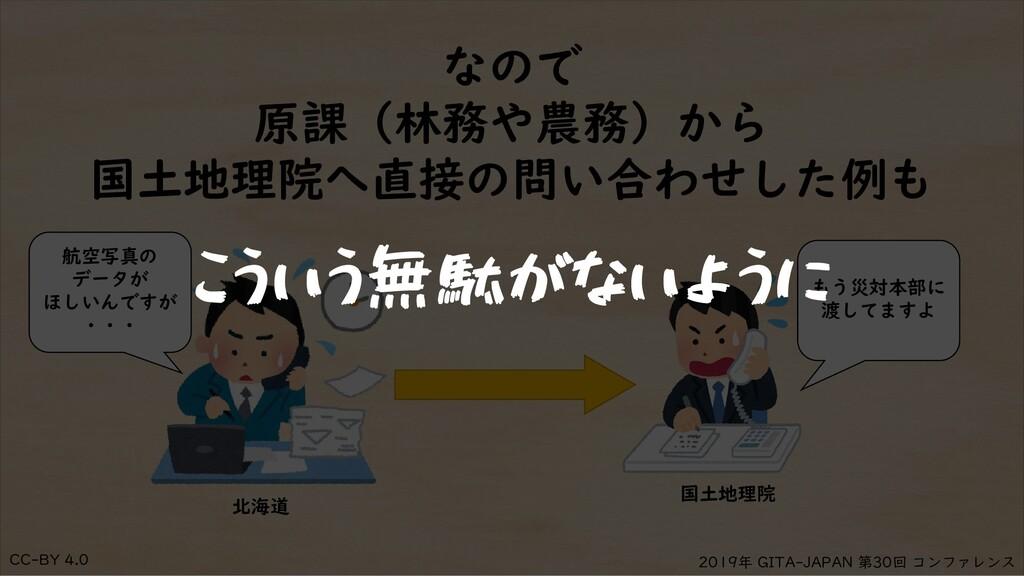 CC-BY 4.0 2019年 GITA-JAPAN 第30回 コンファレンス なので 原課(...