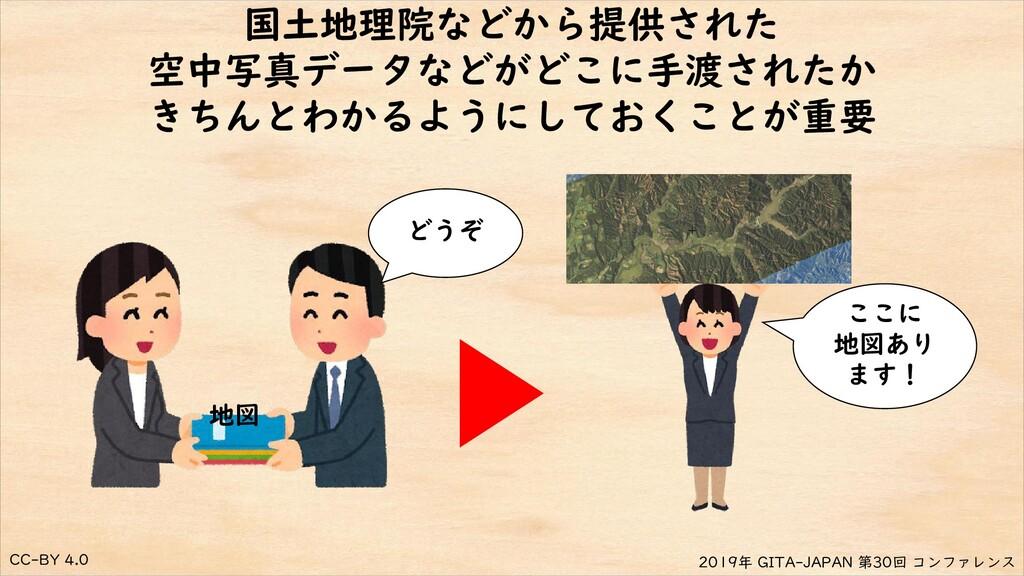CC-BY 4.0 2019年 GITA-JAPAN 第30回 コンファレンス 国土地理院など...
