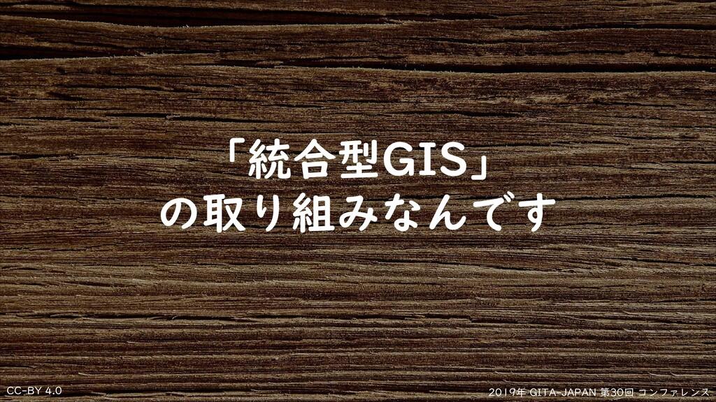 CC-BY 4.0 2019年 GITA-JAPAN 第30回 コンファレンス 「統合型GIS...