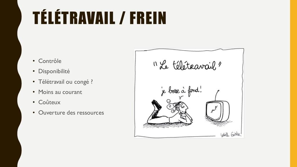 TÉLÉTRAVAIL / FREIN • Contrôle • Disponibilité ...