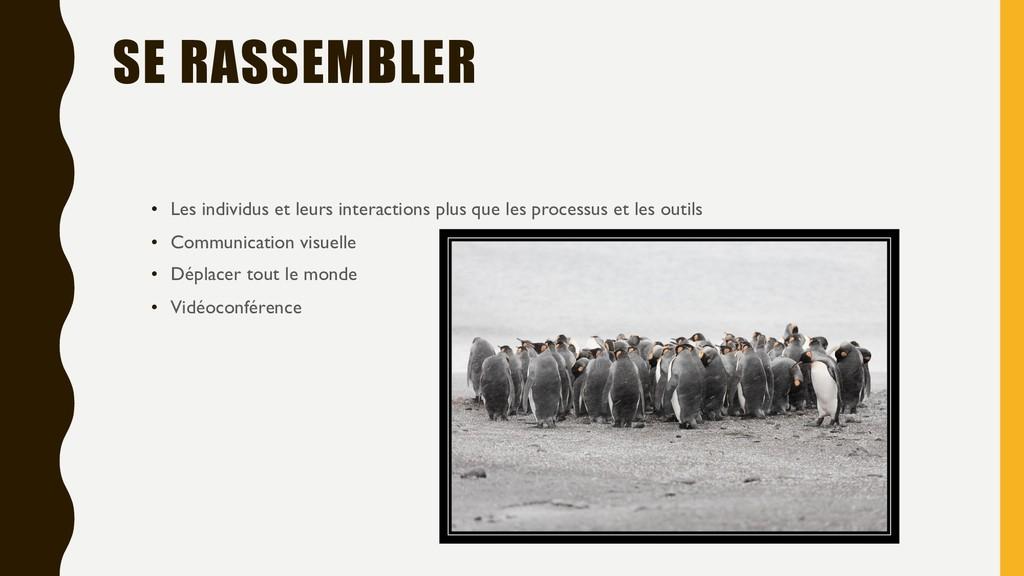 SE RASSEMBLER • Les individus et leurs interact...