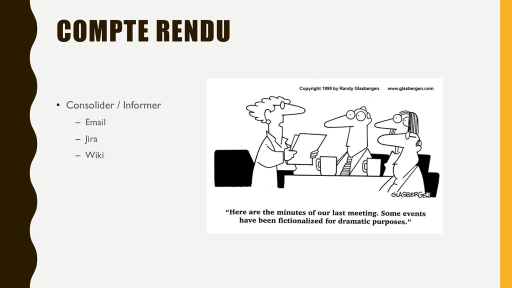 COMPTE RENDU • Consolider / Informer – Email – ...