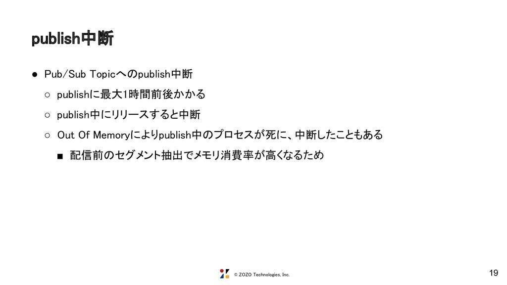 © ZOZO Technologies, Inc. publish中断 ● Pub/Sub ...