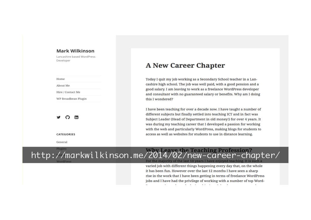 http://markwilkinson.me/2014/02/new-career-chap...