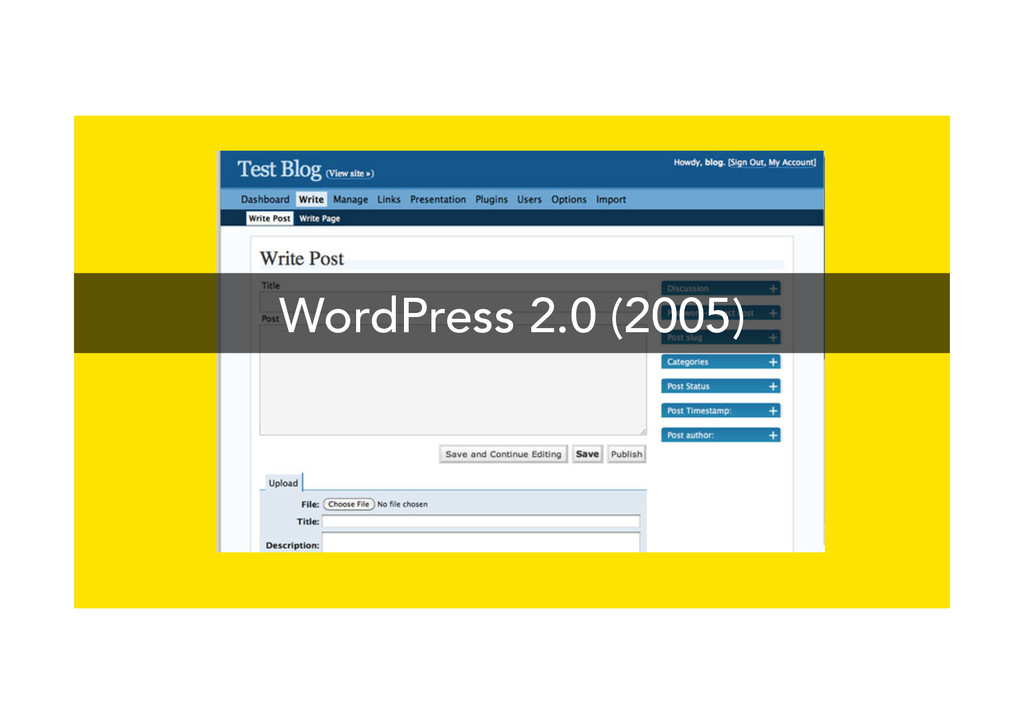 WordPress 2.0 (2005)