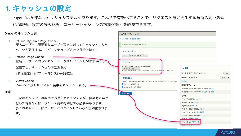DrupalͷΩϟογϡྫ   1. Internal Dynamic Page Cache ...
