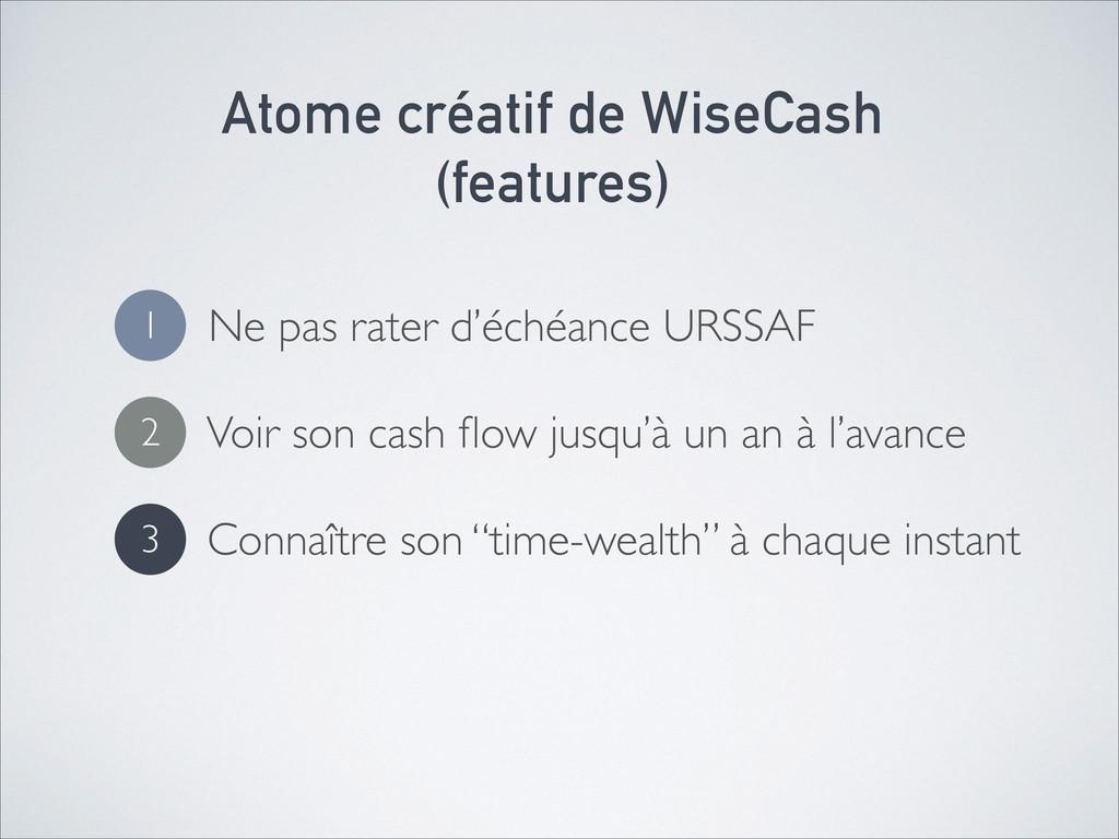 Atome créatif de WiseCash (features) Ne pas ra...