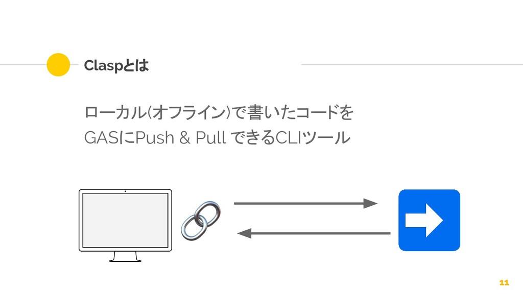 11 Claspとは ローカル(オフライン)で書いたコードを GASにPush & Pull ...