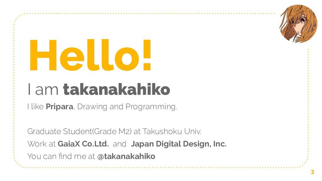 Hello! I am takanakahiko I like Pripara, Drawin...
