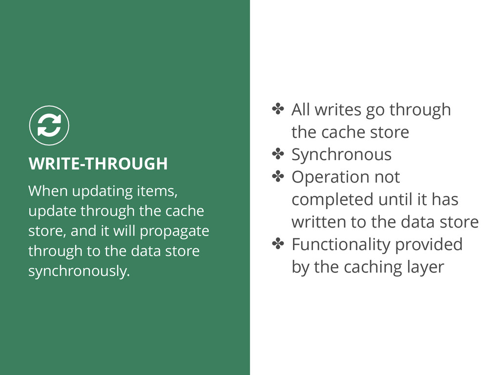 When updating items, update through the cache s...