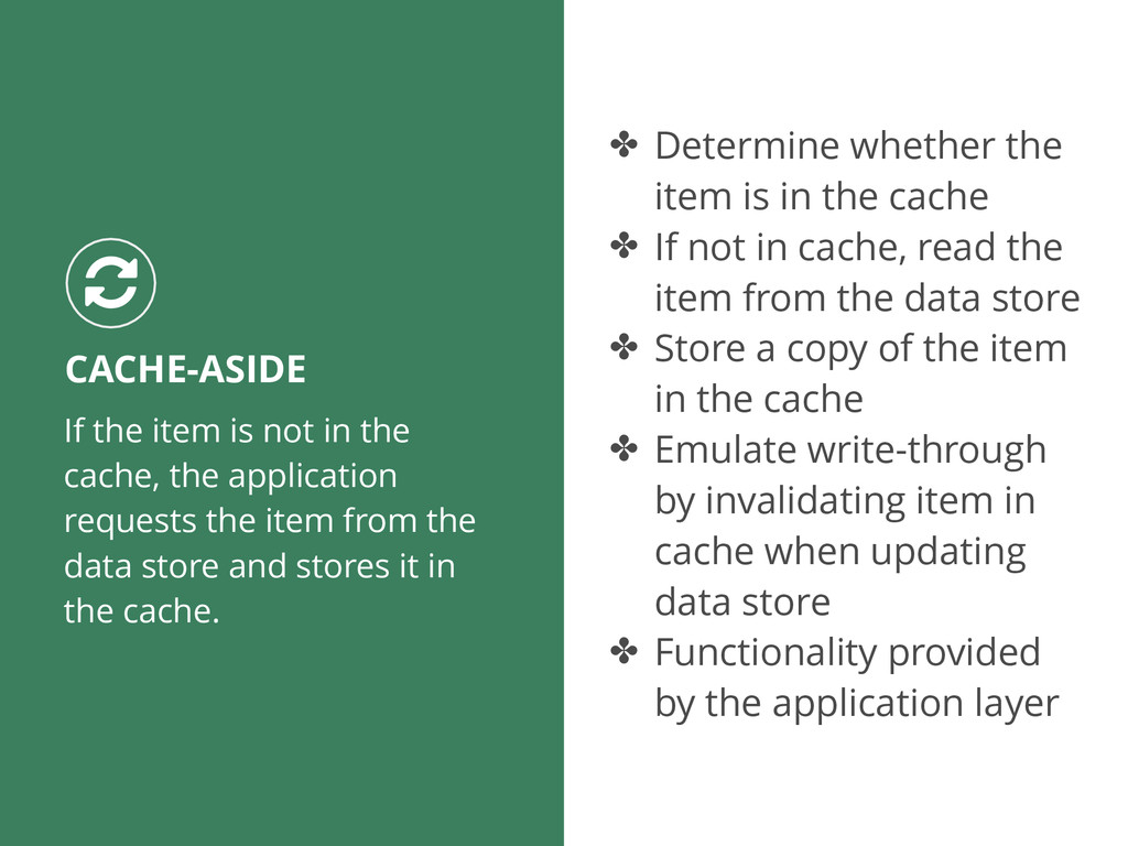 If the item is not in the cache, the applicatio...