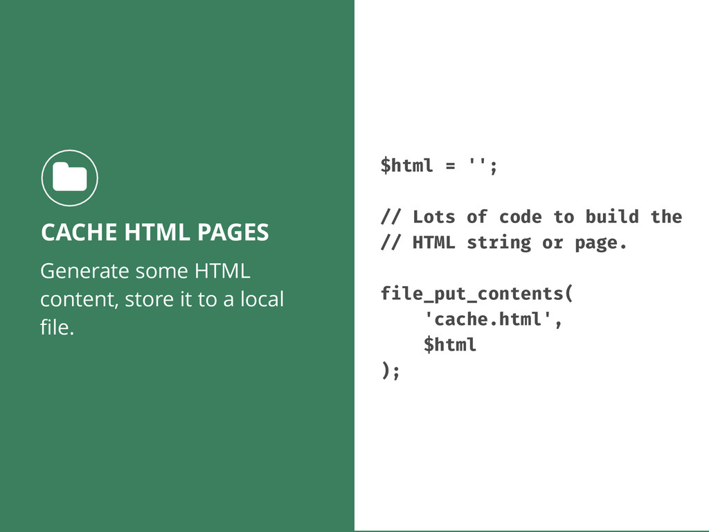 Generate some HTML content, store it to a local...