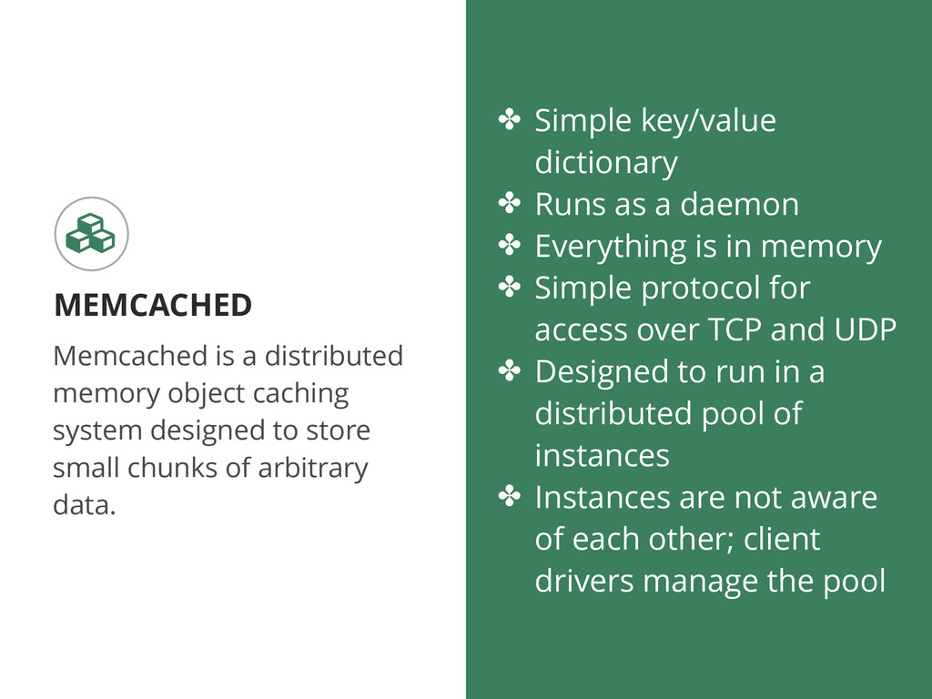 Memcached is a distributed memory object cachin...