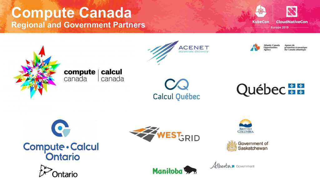 Compute Canada Regional and Government Partners
