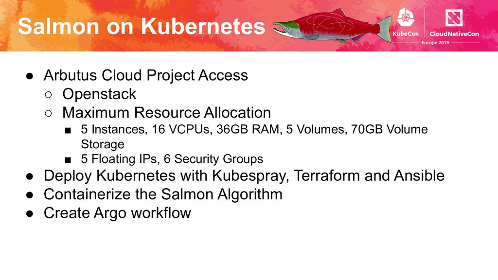 Salmon on Kubernetes ● Arbutus Cloud Project Ac...