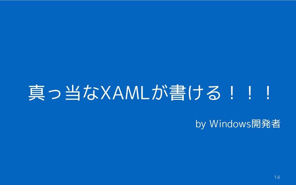真っ当なXAMLが書ける!!! 14 by Windows開発者