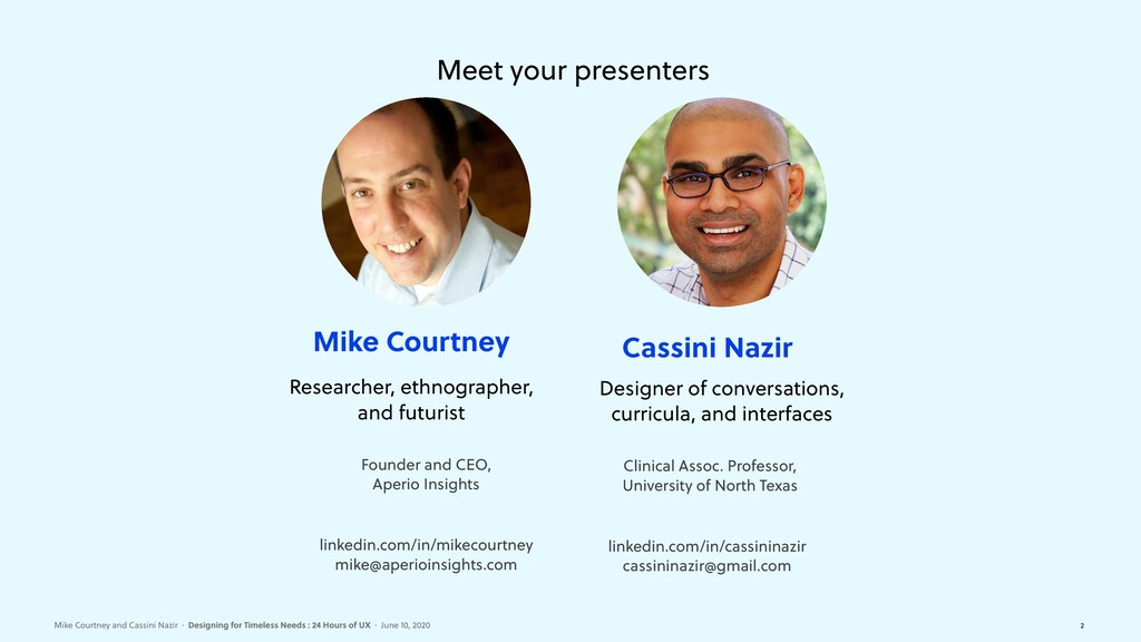 Mike Courtney and Cassini Nazir·Designing for...