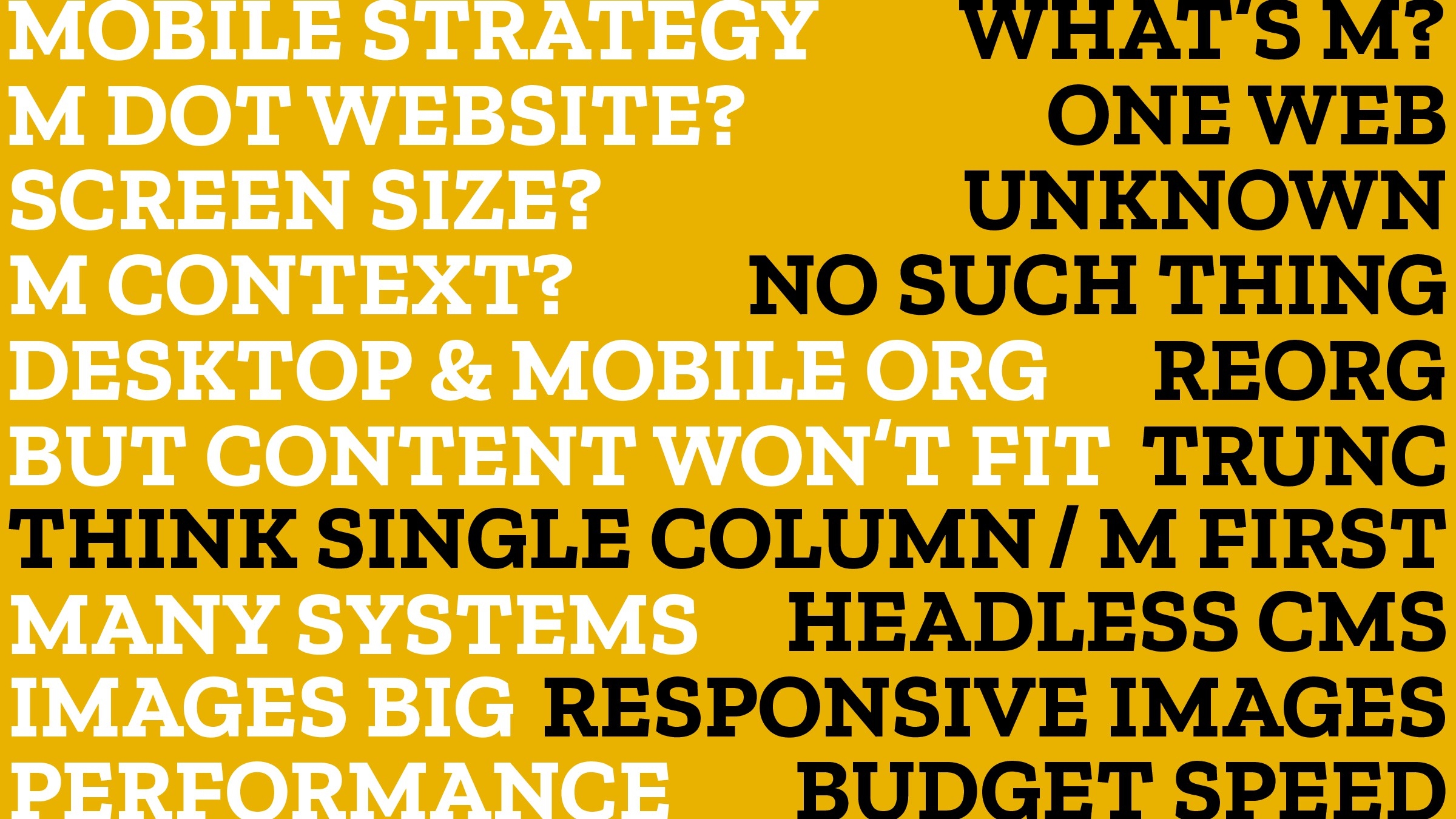 IMAGES BIG MOBILE STRATEGY M DOT WEBSITE? ONE W...