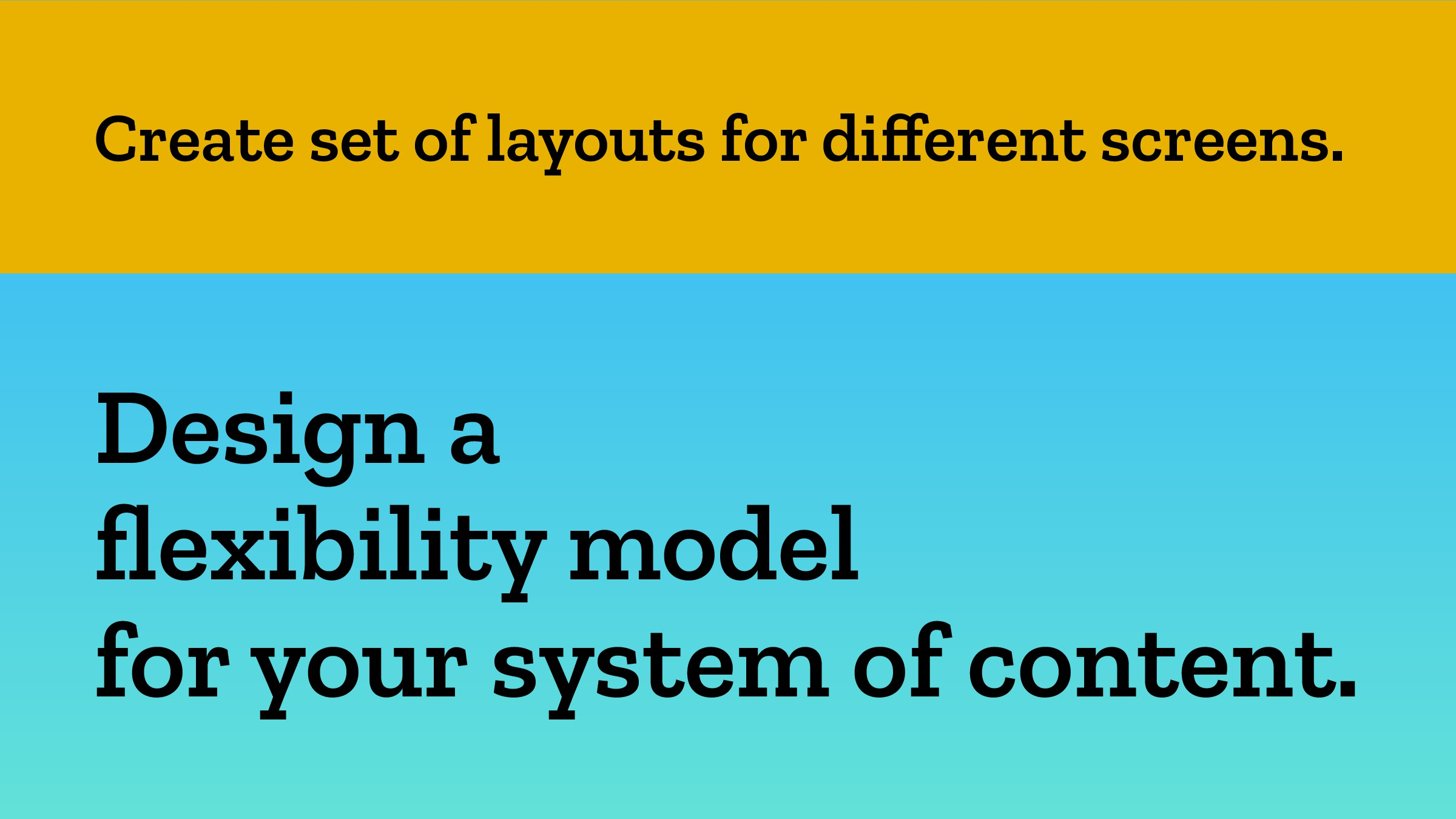 Create set of layouts for different screens. Des...
