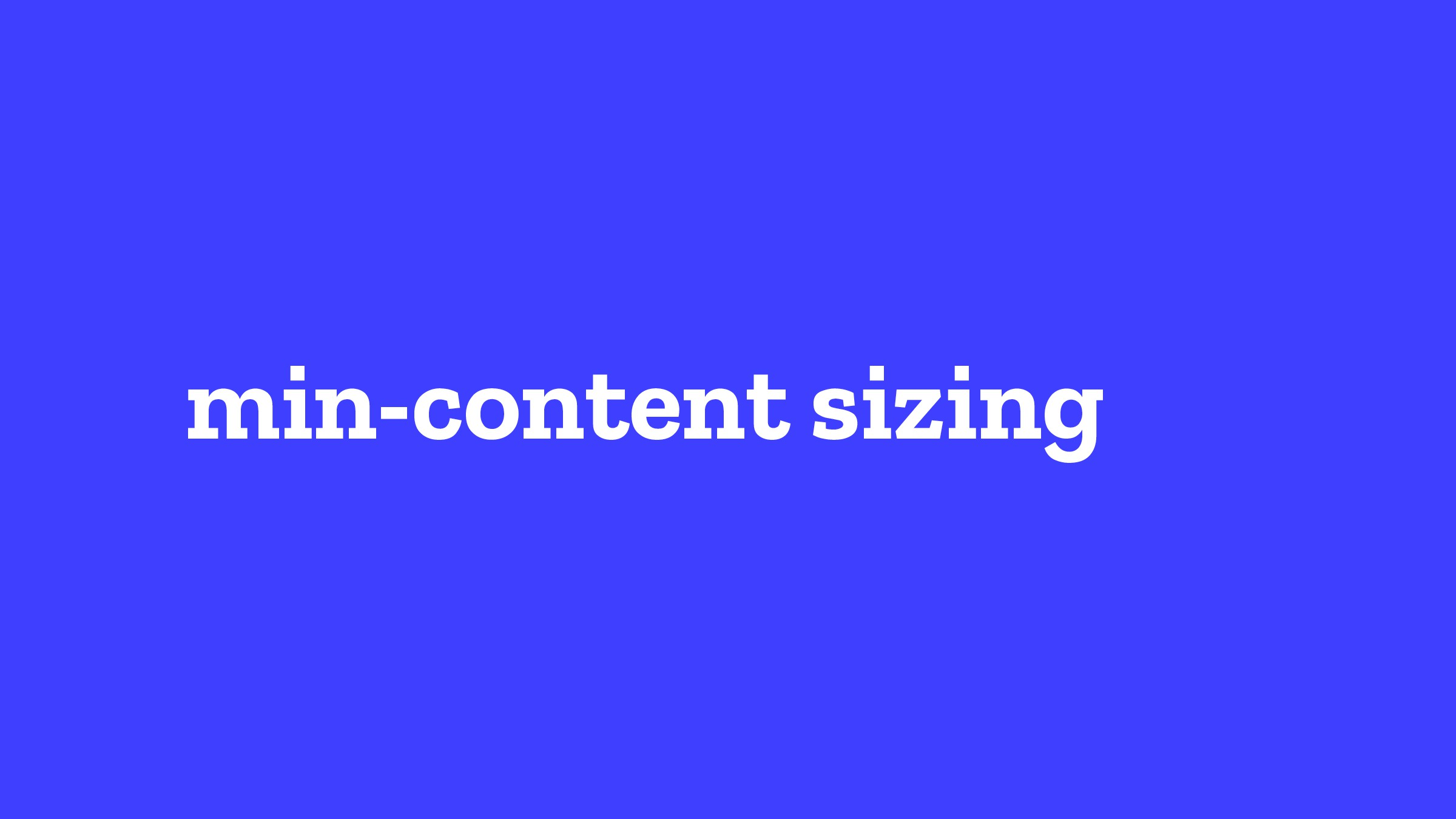 min-content sizing