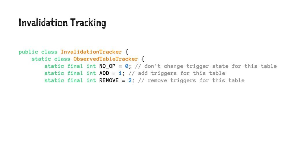 Invalidation Tracking public class Invalidation...