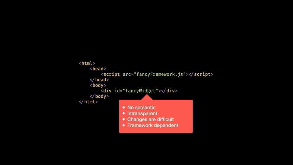 """<div id=""""fancyWidget"""">!</div> <html> <head> <sc..."""