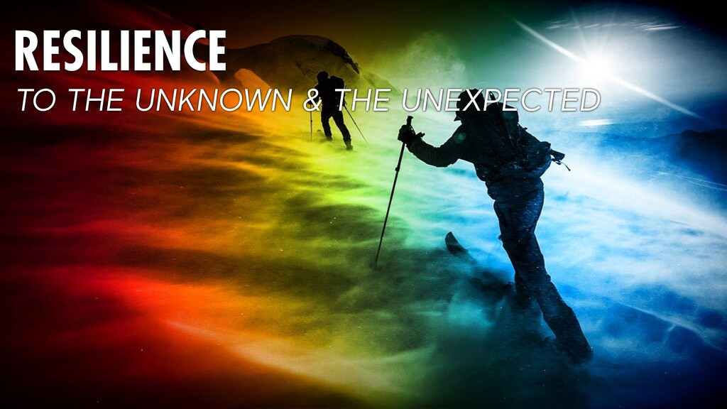 RESILIENCE TO THE UNKNOWN & THE UNEXPECTED
