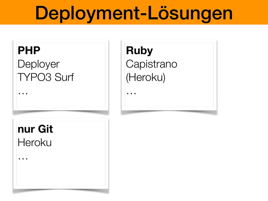 Deployment-Lösungen PHP Deployer TYPO3 Surf … R...