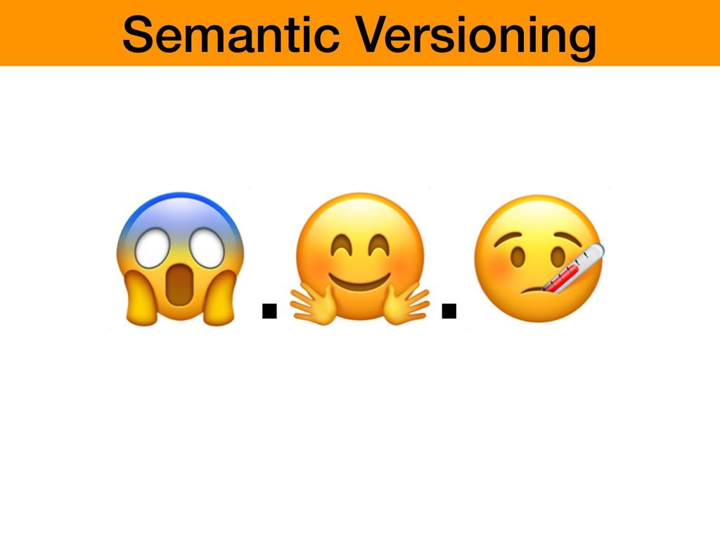 .. Semantic Versioning