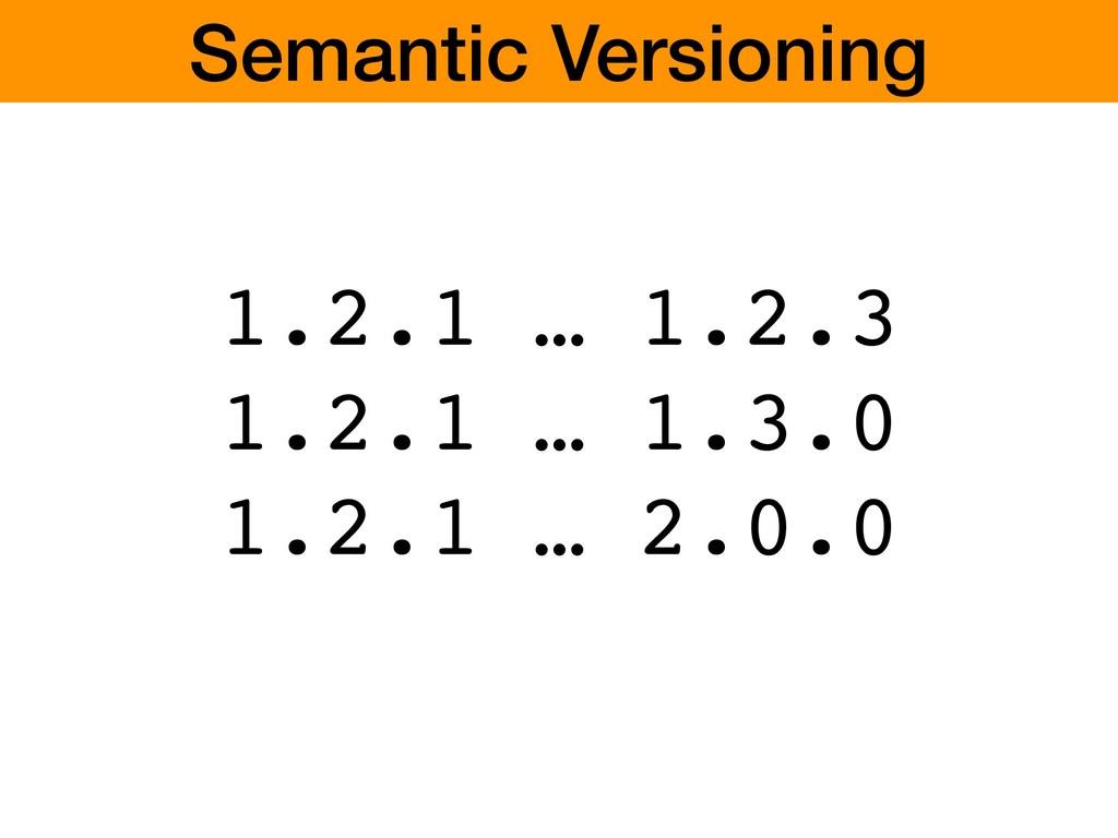 1.2.1 … 1.2.3 1.2.1 … 1.3.0 1.2.1 … 2.0.0 Seman...
