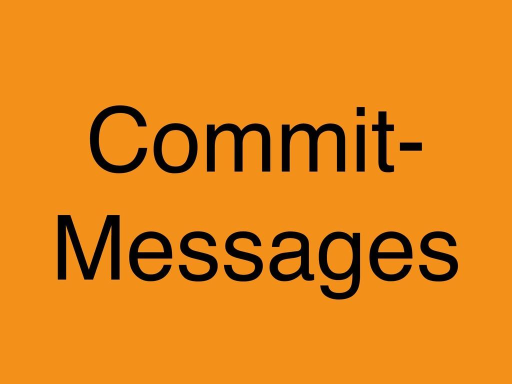 Commit- Messages