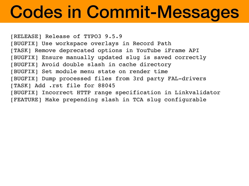 Codes in Commit-Messages [RELEASE] Release of T...