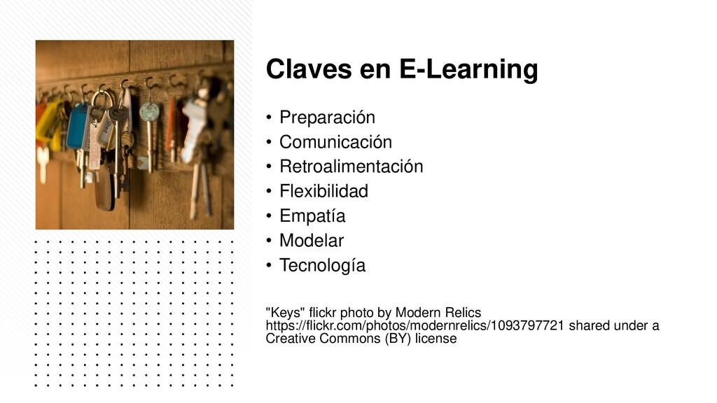Claves en E-Learning • Preparación • Comunicaci...