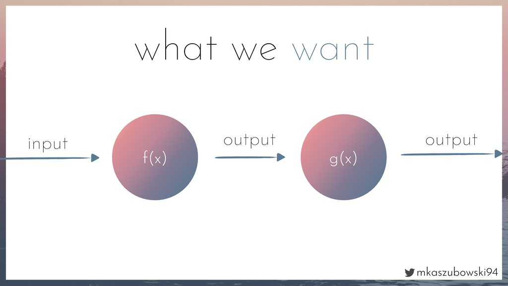 mkaszubowski94 f(x) input output what we want g...