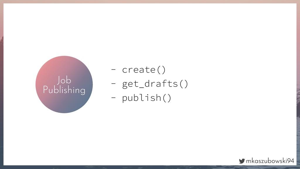 mkaszubowski94 Job Publishing - create() - get_...