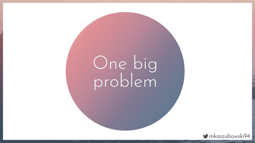 mkaszubowski94 One big problem