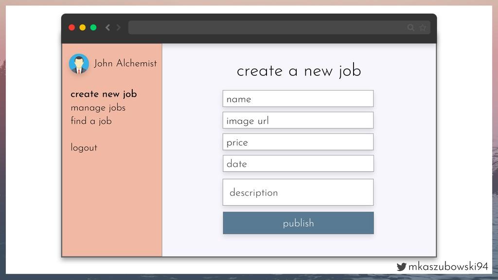 mkaszubowski94 create a new job name image url ...