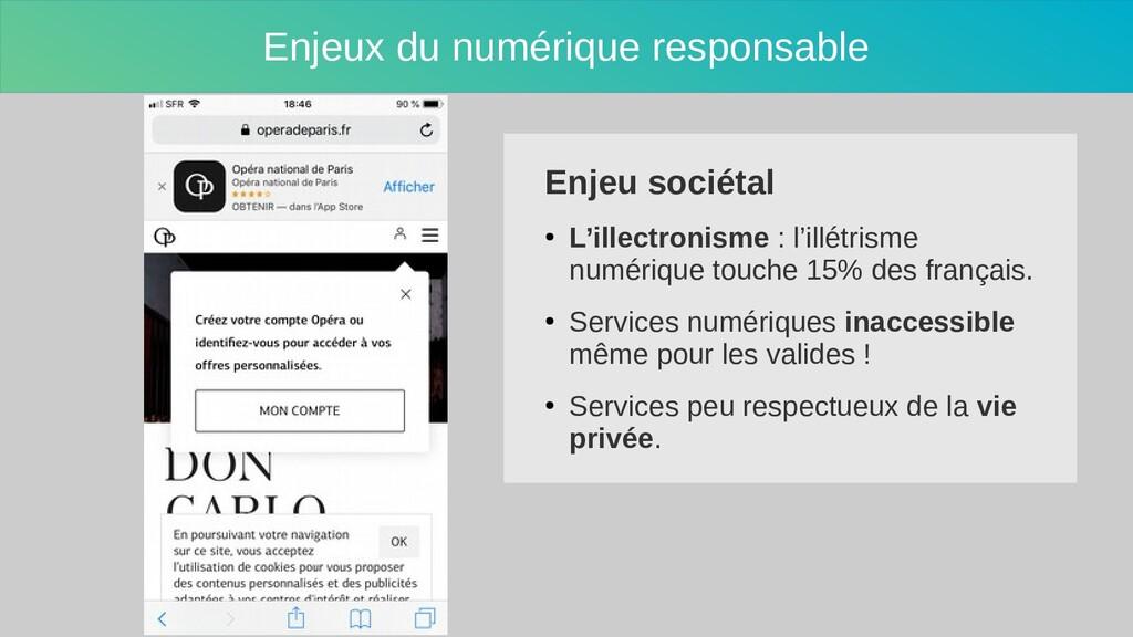 Enjeux du numérique responsable Enjeu sociétal ...