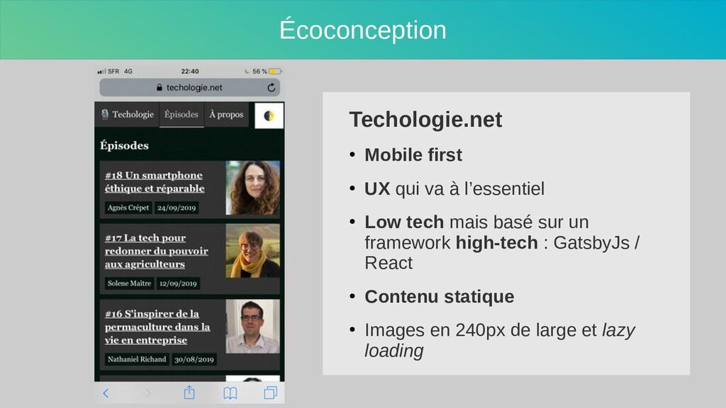 Écoconception Techologie.net ● Mobile first ● U...