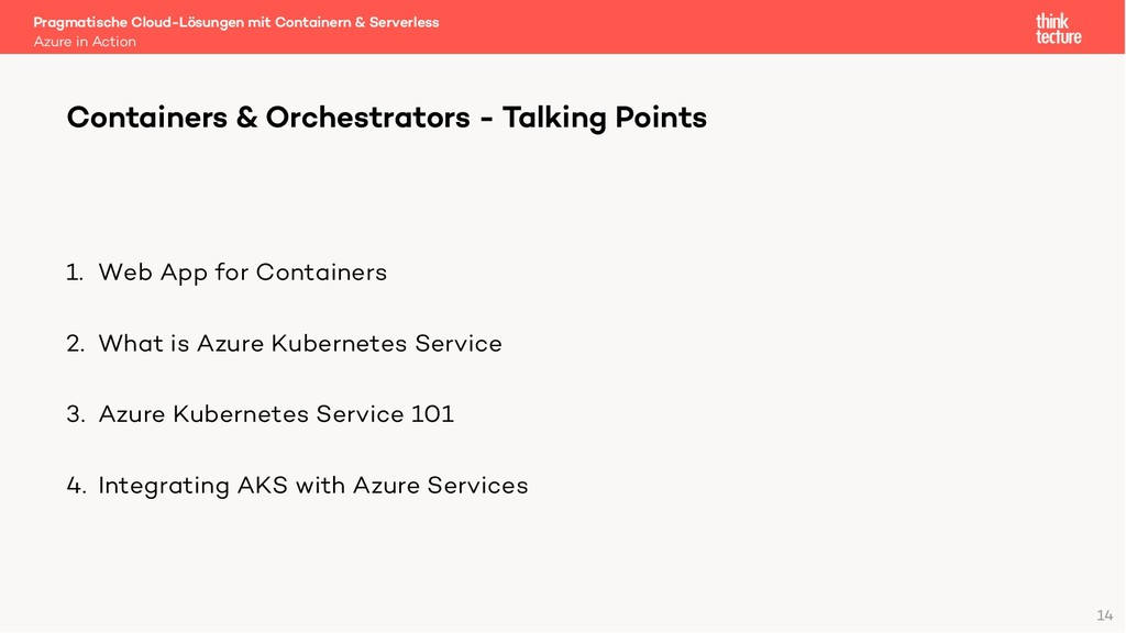 1. Web App for Containers 2. What is Azure Kube...