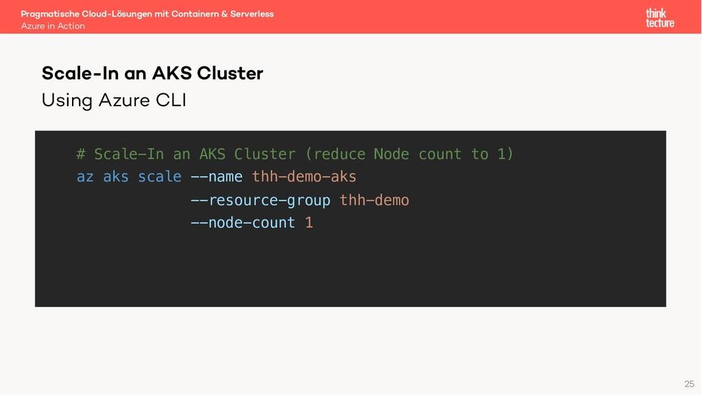 Using Azure CLI # Scale-In an AKS Cluster (redu...