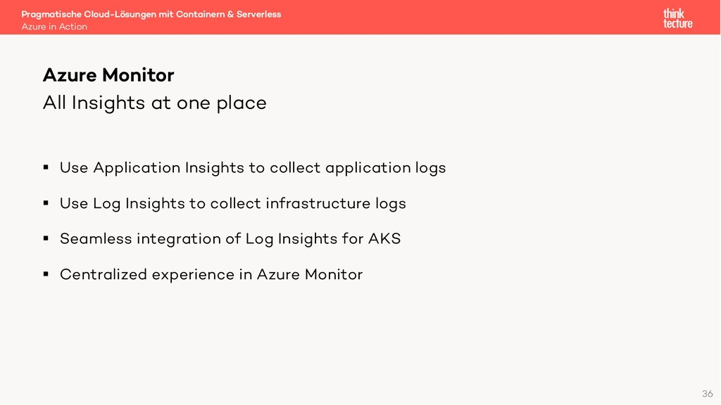 All Insights at one place § Use Application Ins...