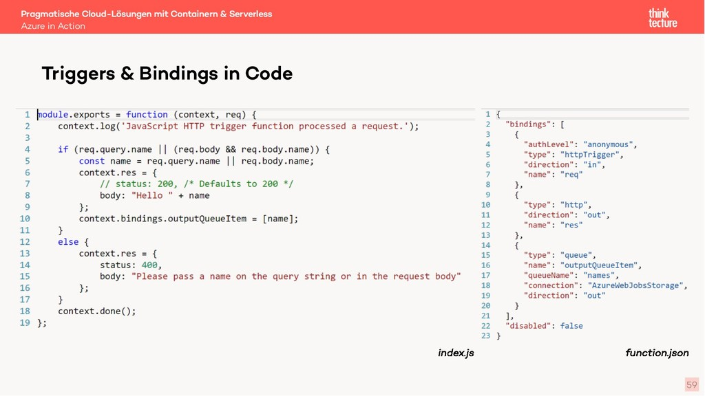 59 Azure in Action Triggers & Bindings in Code ...