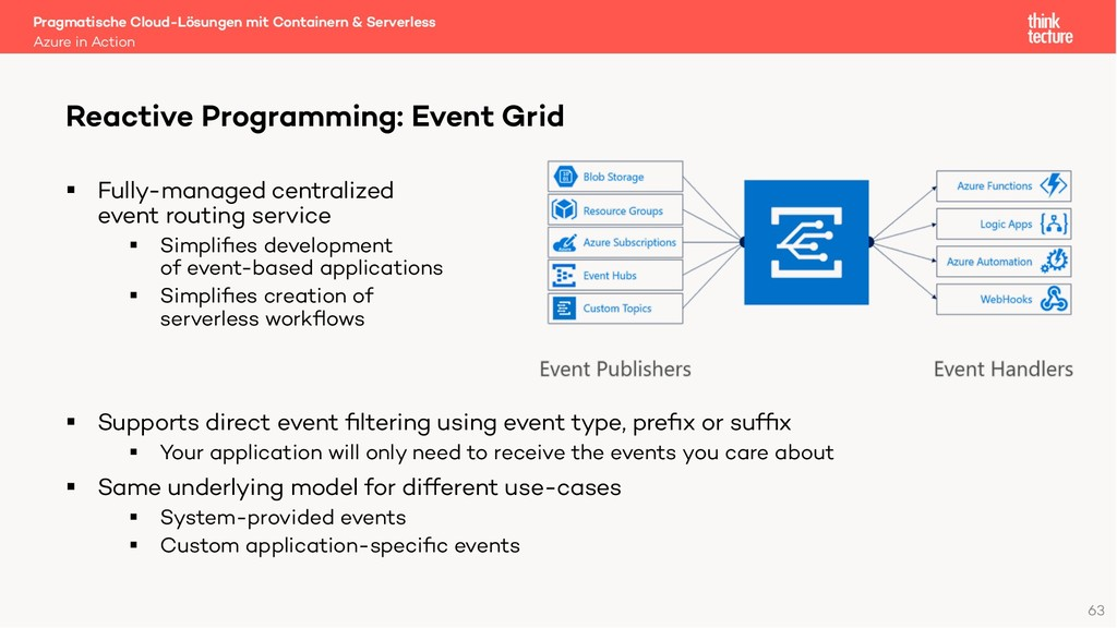 63 § Fully-managed centralized event routing se...